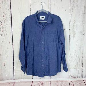 Flax button down linen shirt